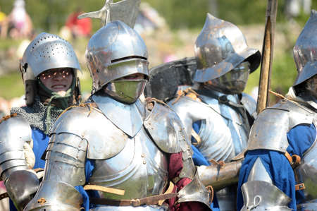 reenacting: Knights ready for battle