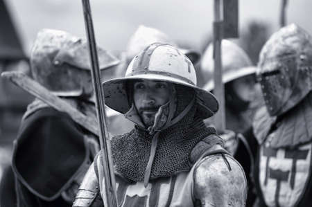 are thrust: Knight in armor