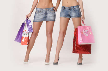 Typical shoppers Stock Photo - 14889076