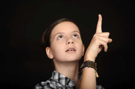 beautiful girl shows thumb up Stock Photo - 16114110
