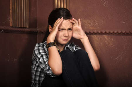 Depressed teenage girl Stock Photo - 14894538