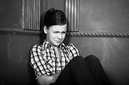Depressed teenage girl  photo