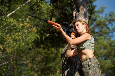woman with a gun Stock Photo - 15392346