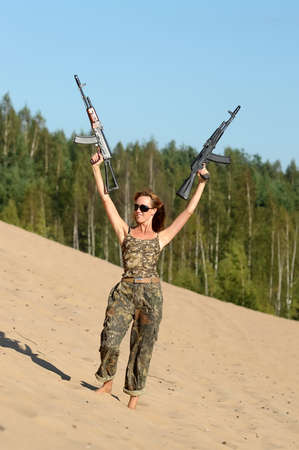 Armed  woman  Stock Photo - 15232881