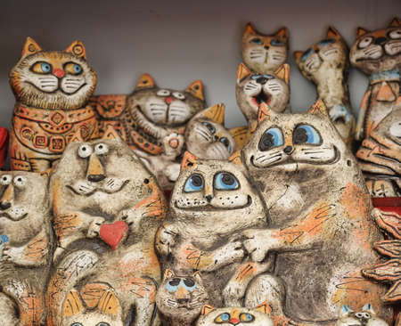 Ceramic cats photo