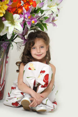 the girl in dress with a bouquet Stock Photo - 18273447