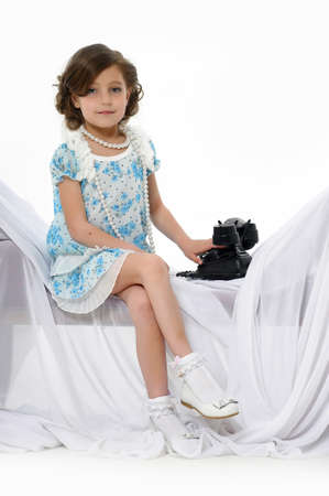 Little girl posing in her dress Stock Photo - 15662313