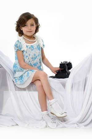 Little girl posing in her dress Stock Photo - 15662313