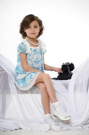 Little girl posing in her dress Stock Photo - 15662315