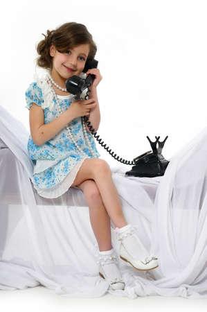 Little girl posing in her dress Stock Photo - 15662312