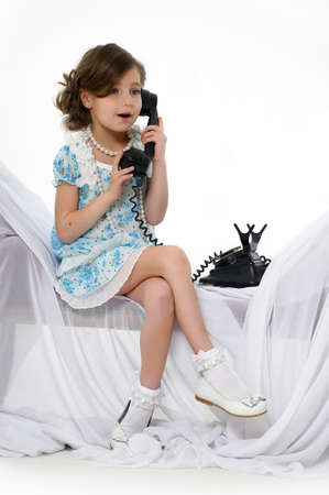 Little girl posing in her dress Stock Photo - 15662318