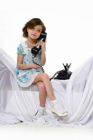 Little girl posing in her dress Stock Photo - 15662306