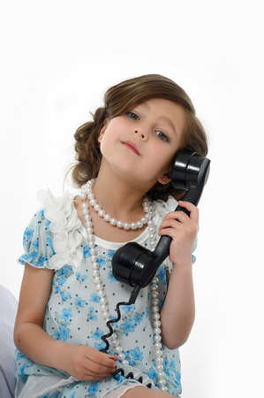 Little girl posing in her dress Stock Photo - 15662320