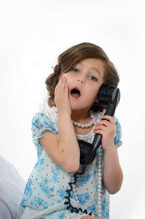 Little girl posing in her dress Stock Photo - 15662316