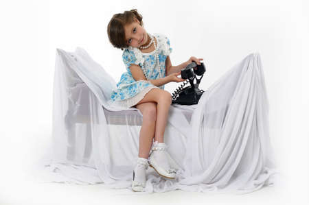 Little girl posing in her dress Stock Photo - 15662305