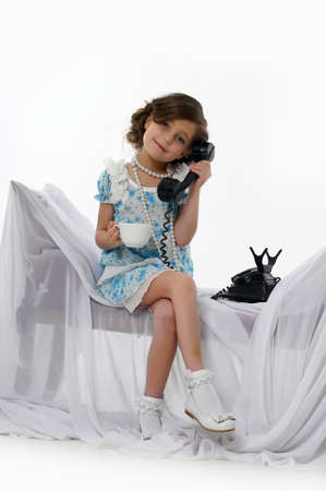 Little girl posing in her dress Stock Photo - 15662307