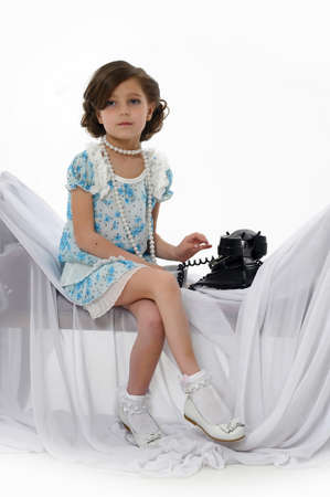 Little girl posing in her dress Stock Photo - 15662319