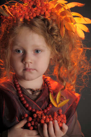 Autumn redheaded princess photo