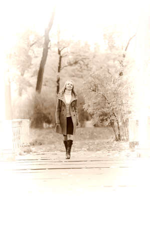 girl in autumn park Stock Photo - 15026991