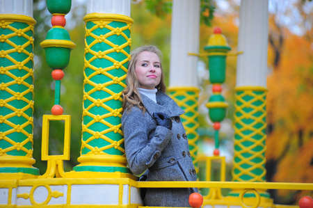 girl in autumn park  photo
