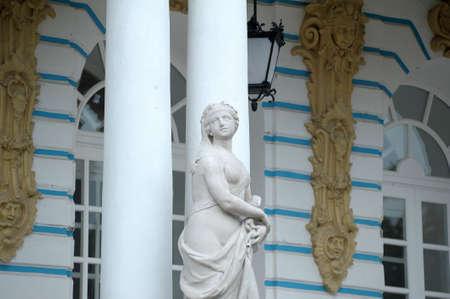 restored: Statue of a beautiful woman  Stock Photo