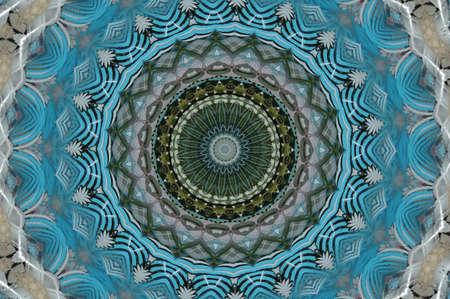 green with blue kaleidoscope Stock Photo - 15036569