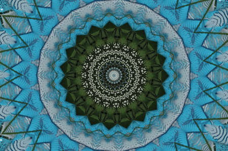 green with blue kaleidoscope photo