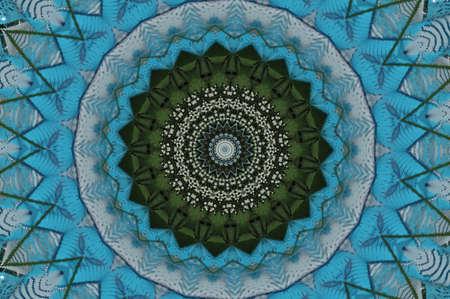 green with blue kaleidoscope Stock Photo - 15036566