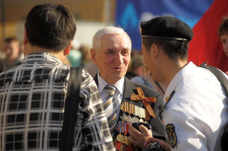 Day of Victory in the Great Patriotic War, the celebration in St. Petersburg, 2012