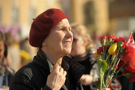 military watch: Day of Victory in the Great Patriotic War, the celebration in St. Petersburg, 2012 Editorial