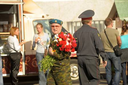veteran's day: Day of Victory in the Great Patriotic War, the celebration in St. Petersburg, 2012 Editorial