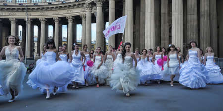Action Runaway Bride Cosmopolitan 2012, Russia, St. Petersburg