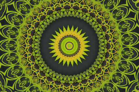 trance: green circular ornament