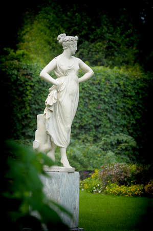 aphrodite: Statue of a beautiful woman  Stock Photo