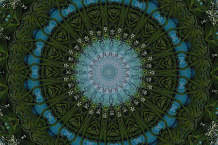 green with blue kaleidoscope Stock Photo - 15144559
