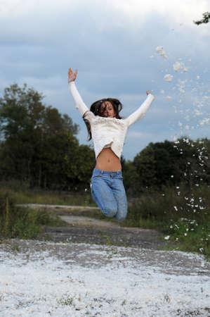 throw up: Jumping girl