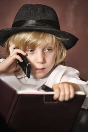 little boy in the role of a businessman Stock Photo - 15136736