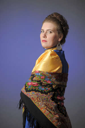 girl in traditional russian folk dress Stock Photo - 15146589