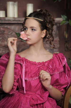 Young victorian lady  Stock Photo - 15169125