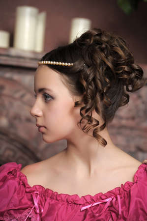 Young victorian lady Stock Photo - 15144683