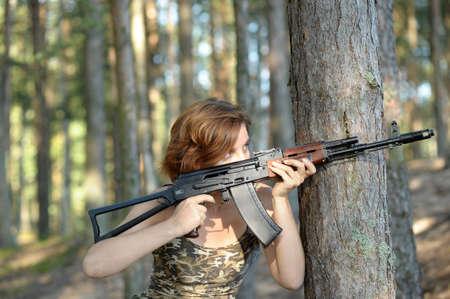 woman with a gun Stock Photo - 16194143