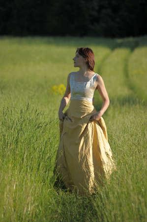 Fashion girl in retro style dress Stock Photo - 15225353