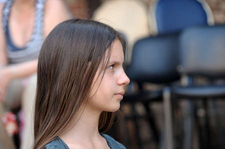 pre adolescence: Angry teen girl