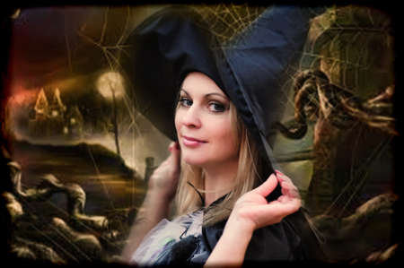 witch in the forest photo