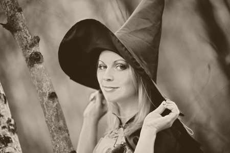 witch in the forest Stock Photo - 15148562