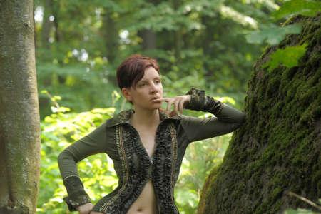 Girl enjoying nature Stock Photo - 19029951