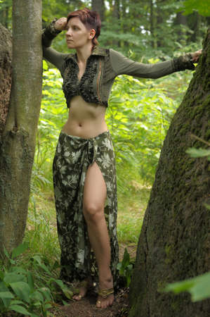 Girl enjoying nature Stock Photo - 19029954