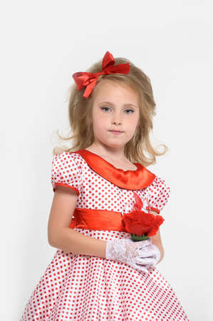 pin up model: a little girl dressed in the style of the 60s