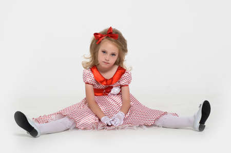 a little girl dressed in the style of the 60s Stock Photo - 15429151