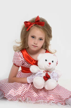 a little girl dressed in the style of the 60s Stock Photo - 15429158